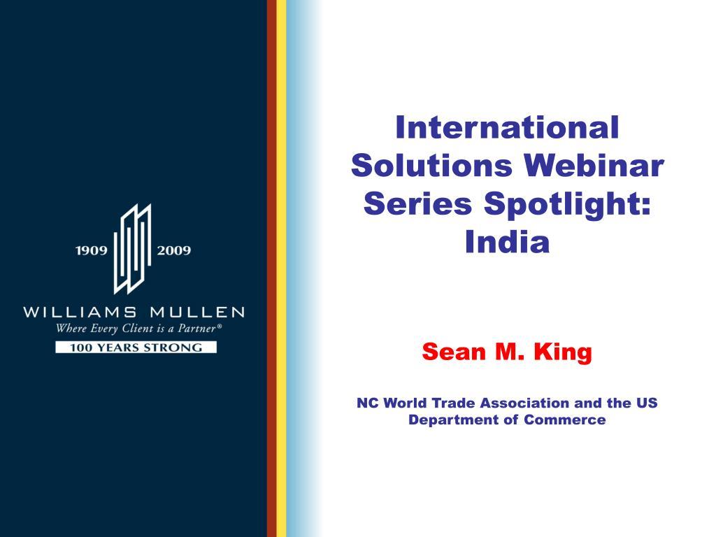 International Solutions Webinar Series Spotlight: India