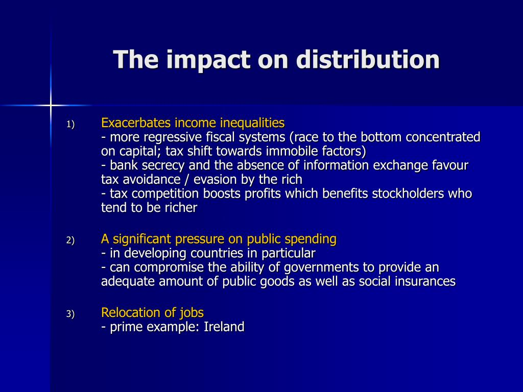 The impact on distribution