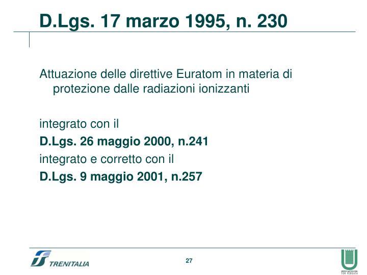 Attuazione delle direttive Euratom in materia di protezione dalle radiazioni ionizzanti