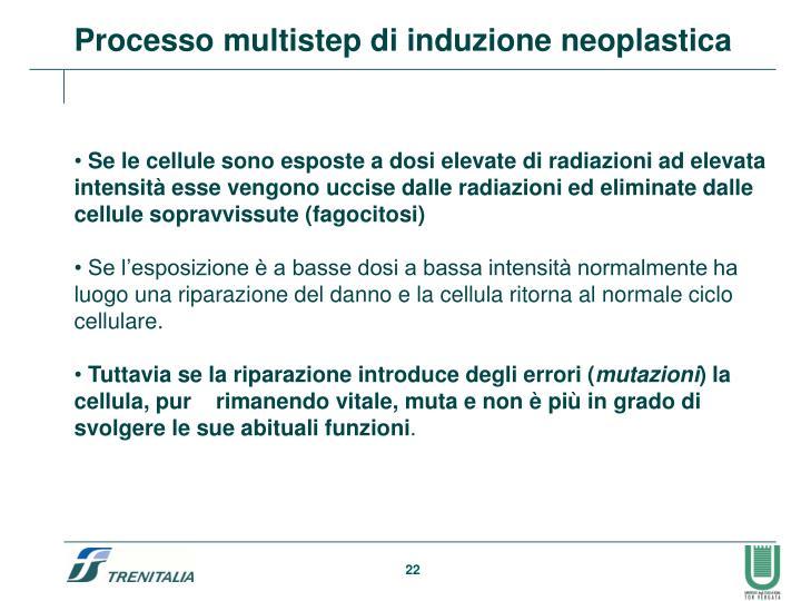 Processo multistep di induzione neoplastica