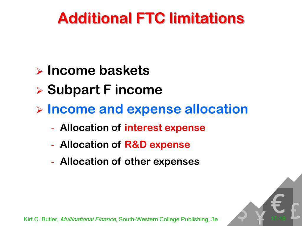 Additional FTC limitations