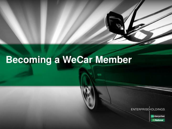 Becoming a WeCar Member