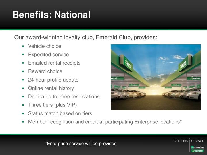 Benefits: National