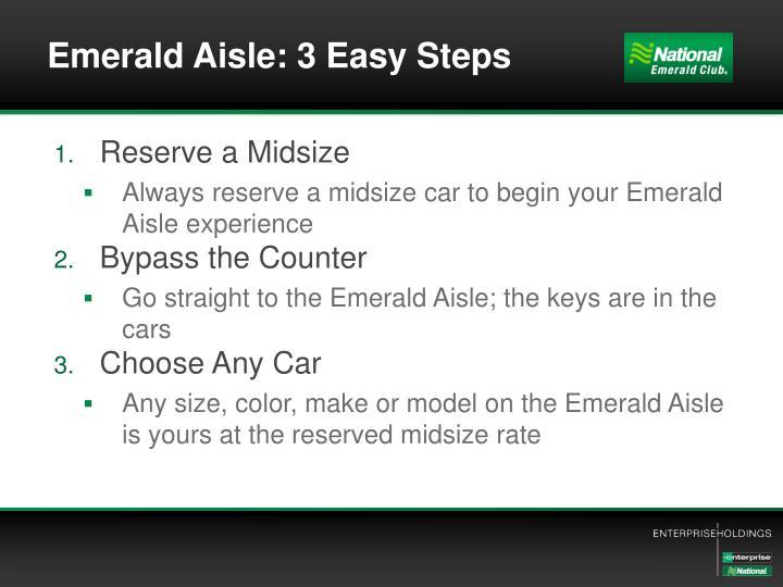 Emerald Aisle: 3 Easy Steps