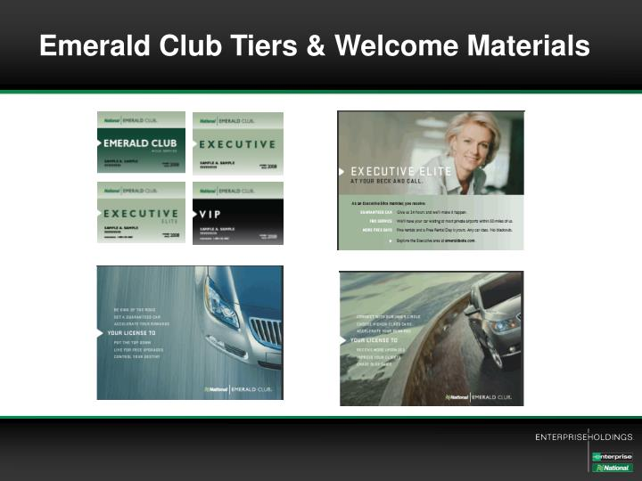 Emerald Club Tiers & Welcome Materials