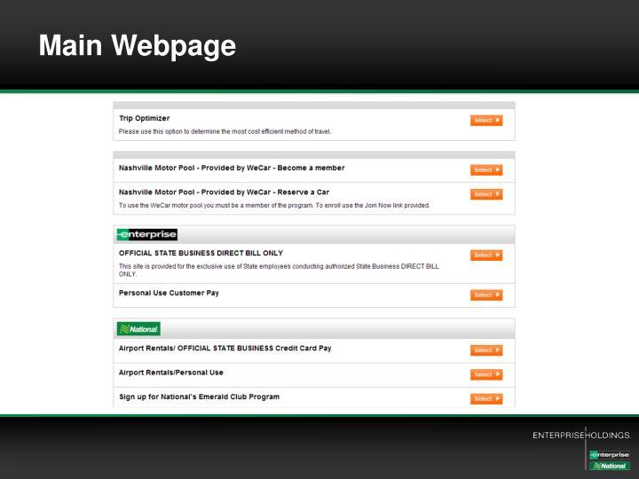 Main Webpage