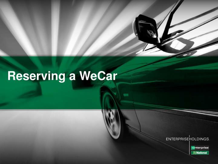 Reserving a WeCar