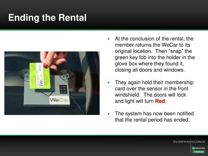Ending the Rental