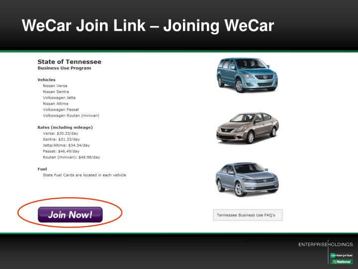 WeCar Join Link – Joining WeCar