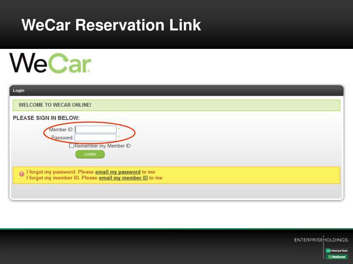 WeCar Reservation Link