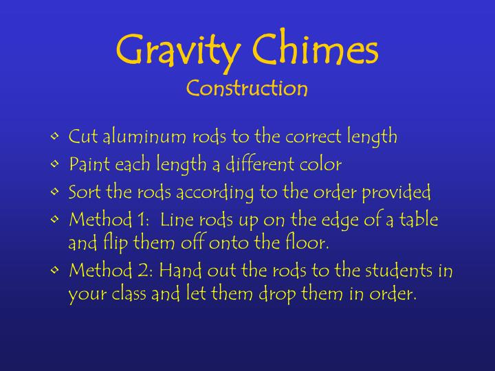 Gravity Chimes