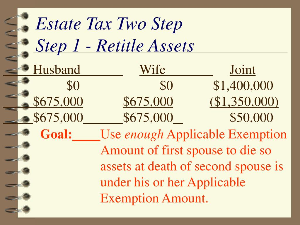 Estate Tax Two Step