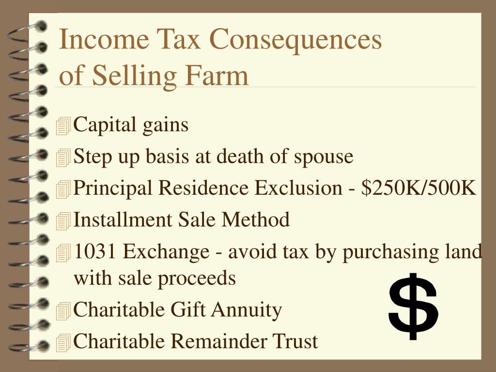 Income Tax Consequences