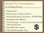 income tax consequences of selling farm