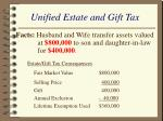 unified estate and gift tax