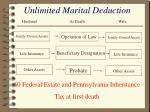 unlimited marital deduction