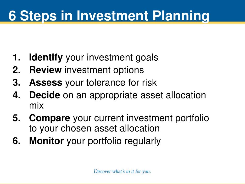 6 Steps in Investment Planning