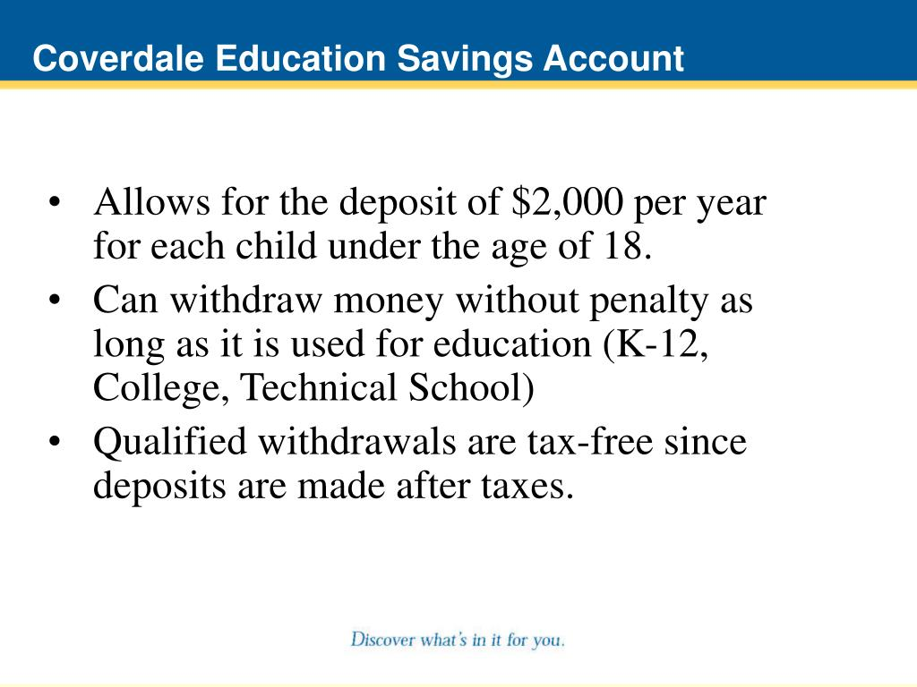 Coverdale Education Savings Account