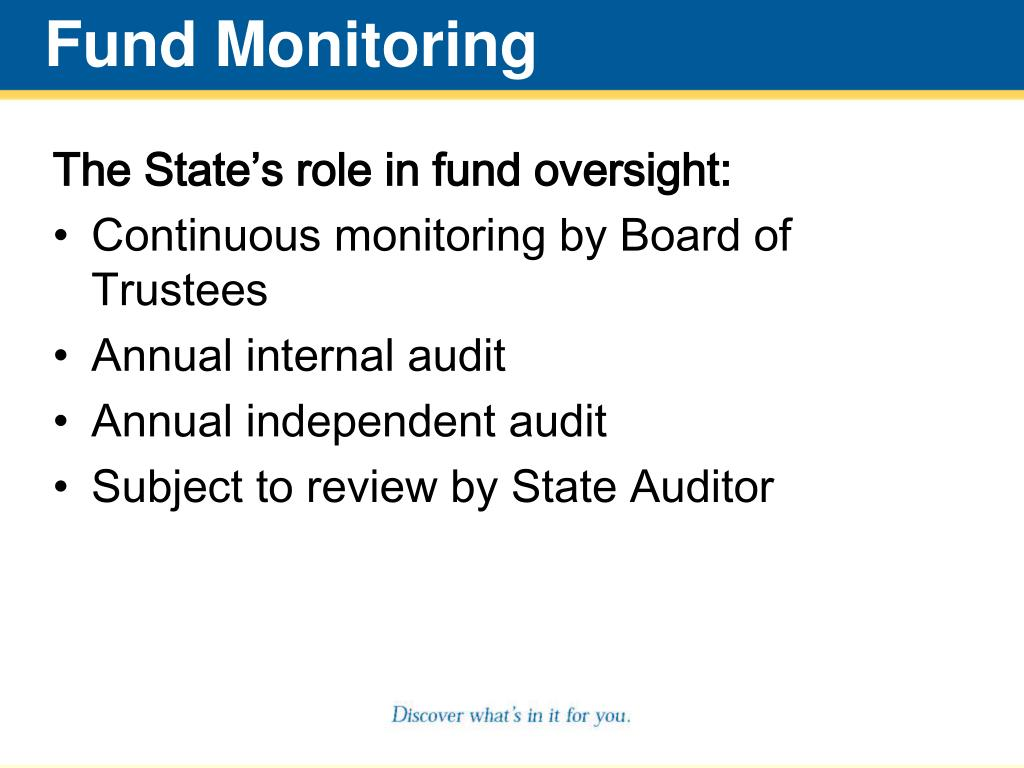 Fund Monitoring