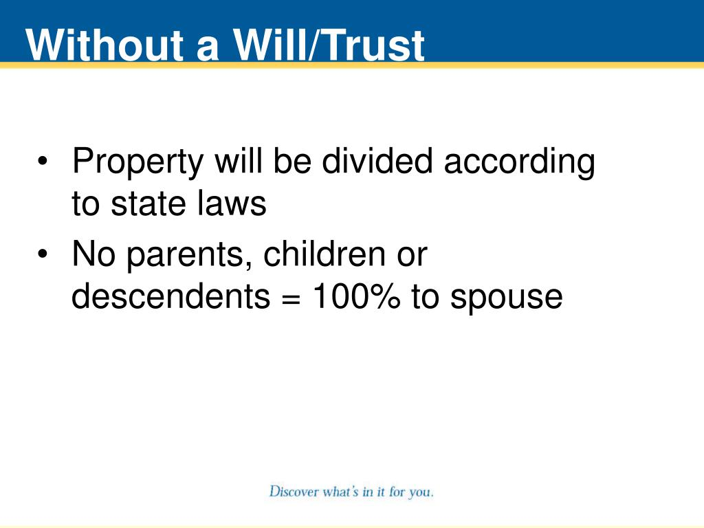 Without a Will/Trust