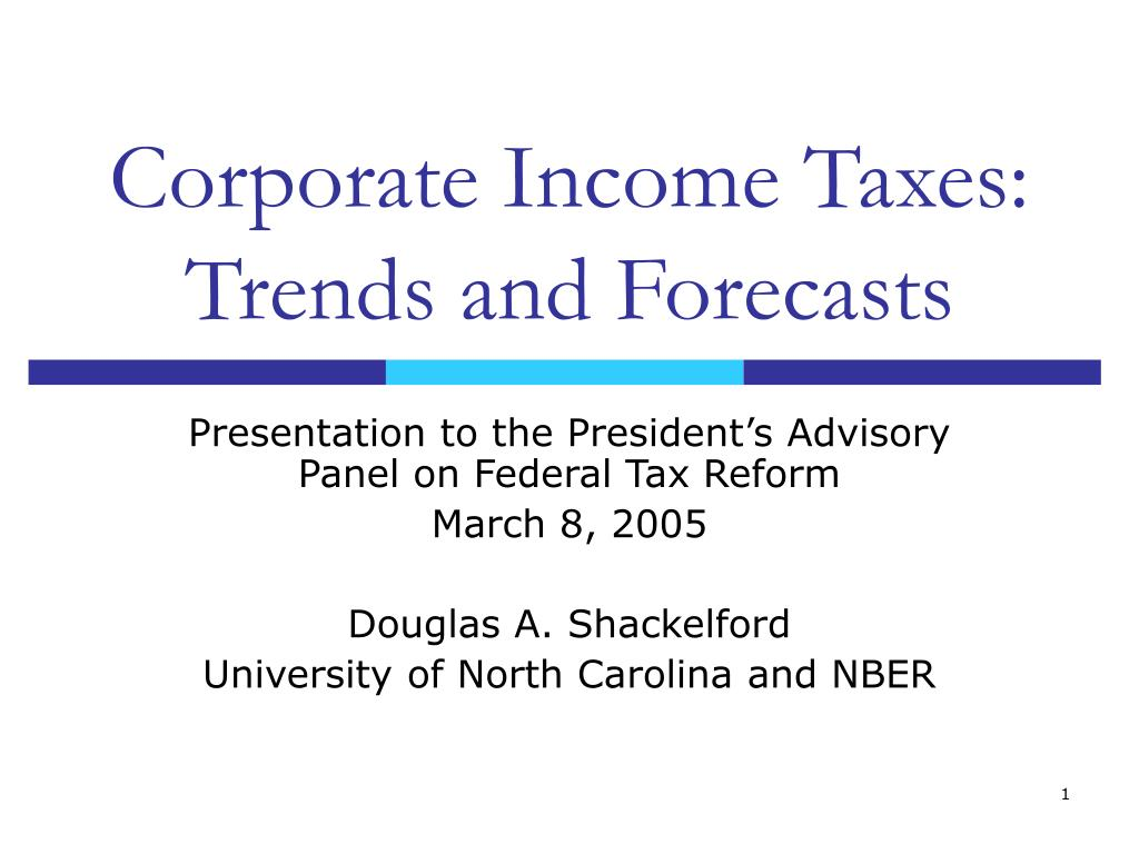 Corporate Income Taxes: