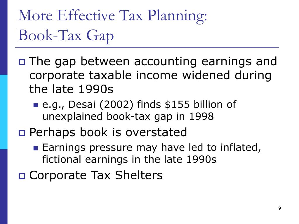 More Effective Tax Planning: