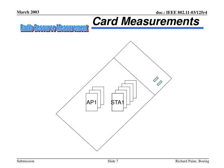 Card Measurements
