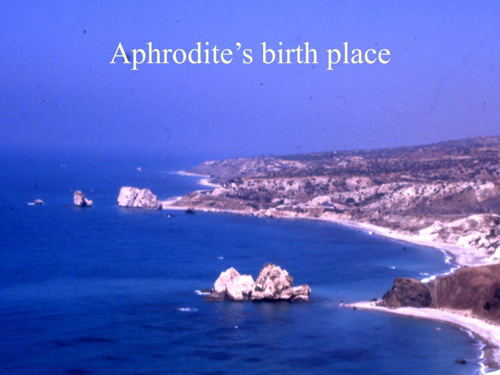 Aphrodite's birth place