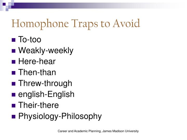 Homophone Traps to Avoid