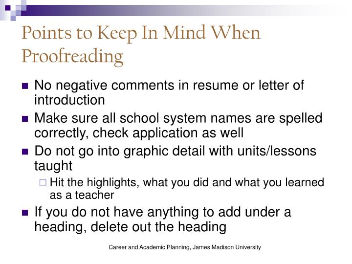 Points to Keep In Mind When Proofreading