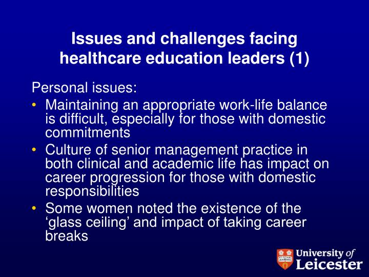 Issues and challenges facing healthcare education leaders (1)