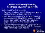issues and challenges facing healthcare education leaders 4