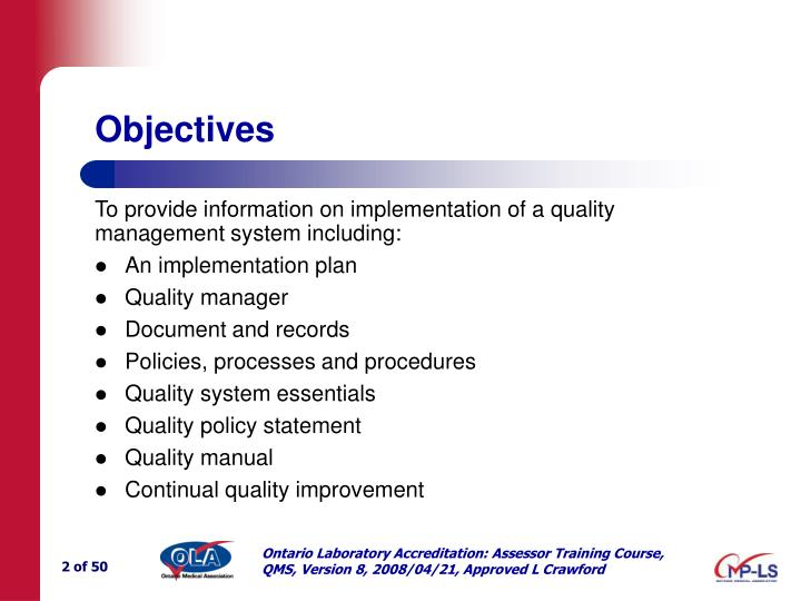 Implementing A Quality Management System Ppt - Imagez co