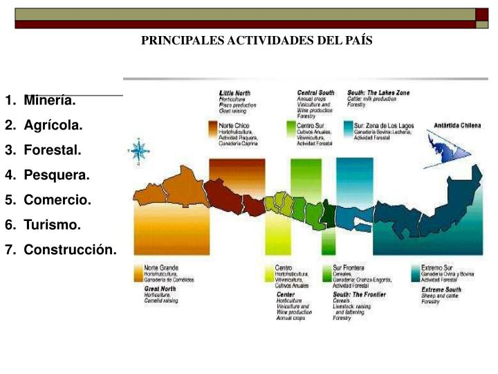 PRINCIPALES ACTIVIDADES DEL PAÍS