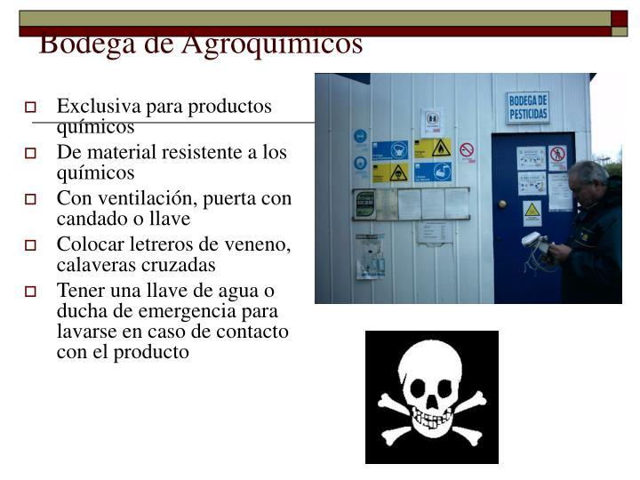 Bodega de Agroquímicos