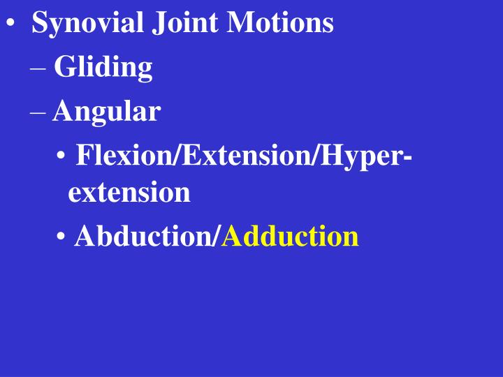 Synovial Joint Motions
