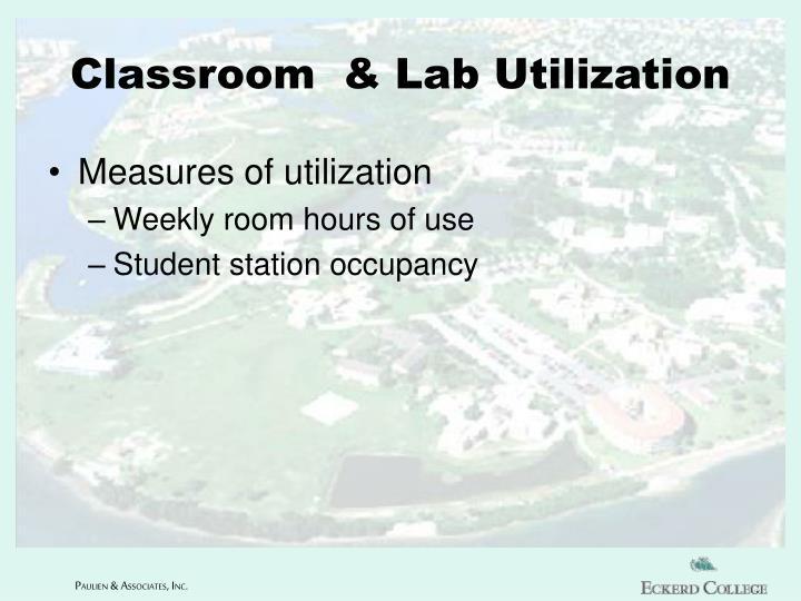 Classroom  & Lab Utilization