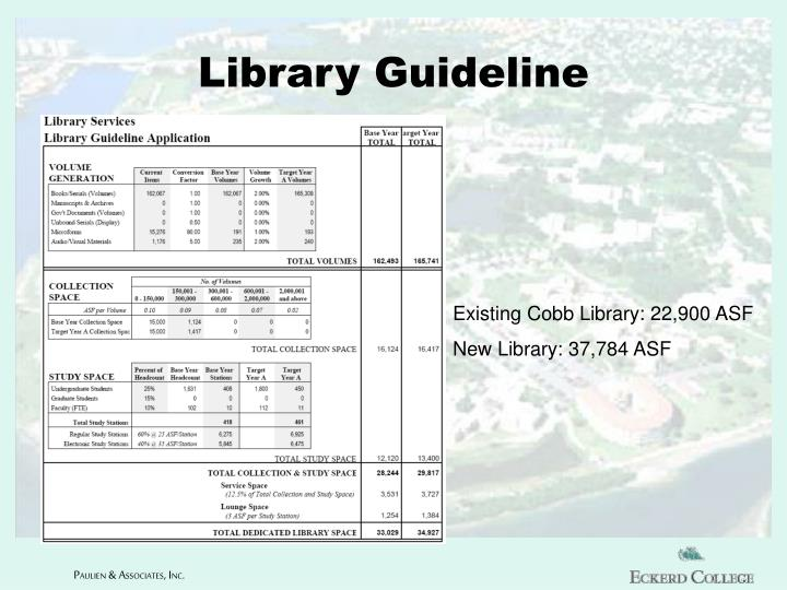Library Guideline