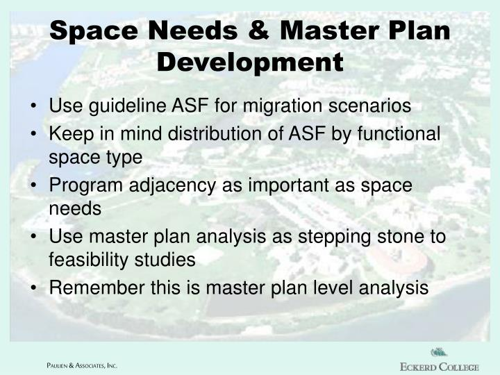 Space Needs & Master Plan Development