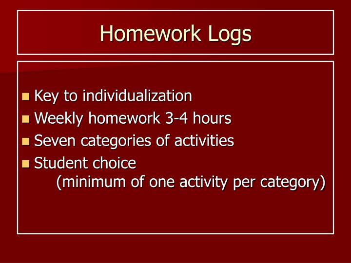 Homework Logs