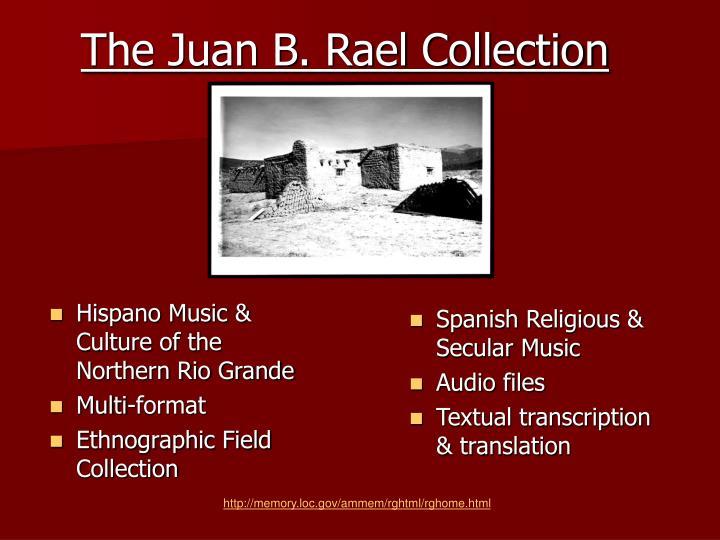 Hispano Music & Culture of the           Northern Rio Grande