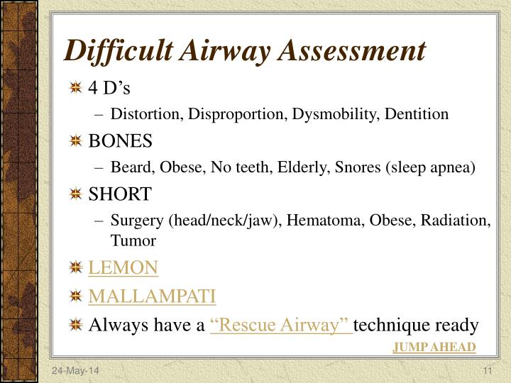 Difficult Airway Assessment