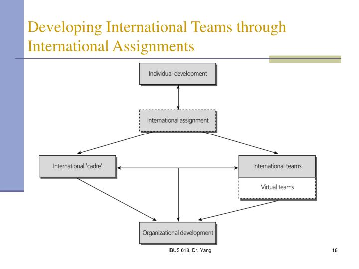 Developing International Teams through International Assignments