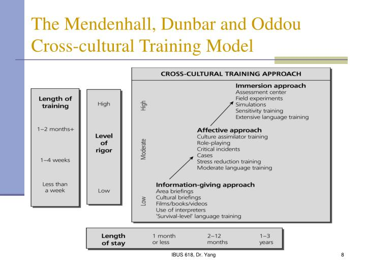 The Mendenhall, Dunbar and Oddou Cross-cultural Training Model