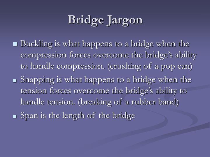 Bridge Jargon