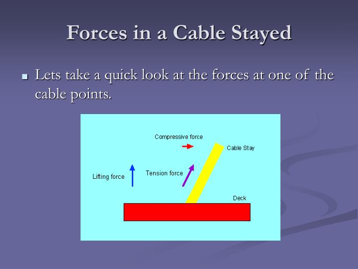 Forces in a Cable Stayed