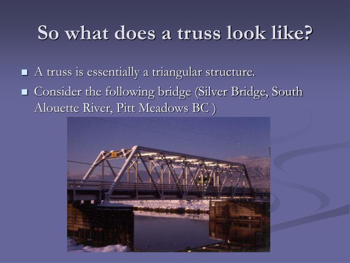 So what does a truss look like?