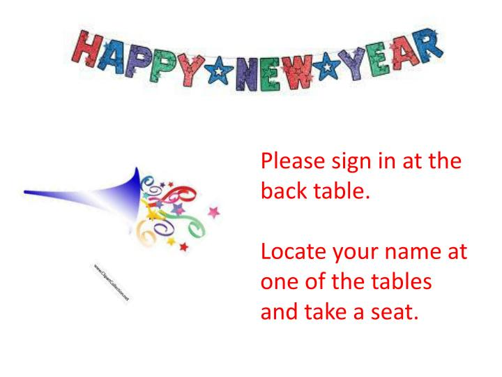 Please sign in at the back table.