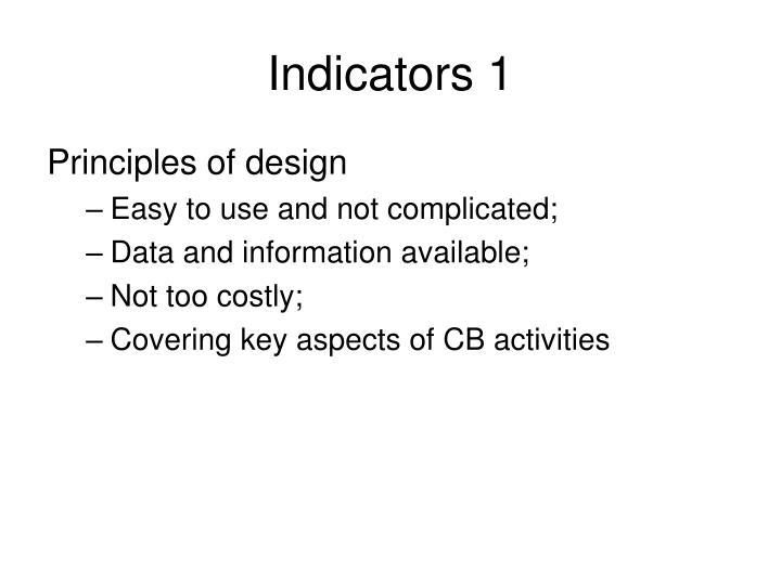 Indicators 1