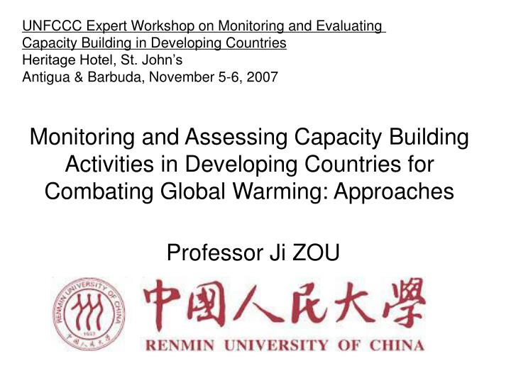 UNFCCC Expert Workshop on Monitoring and Evaluating